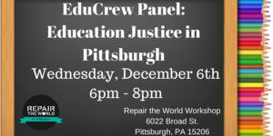 Education Justice in Pittsburgh Panel